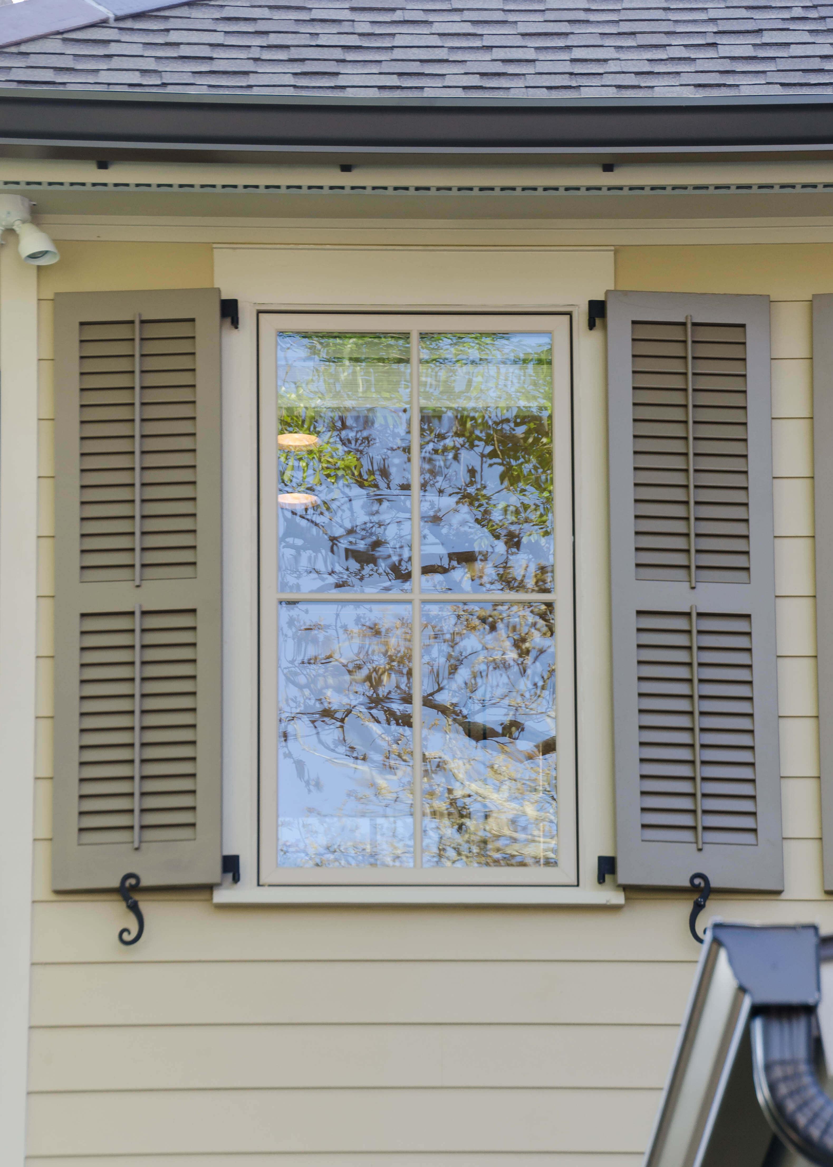 Shutters vinyl redwood spanish cedar jefferson door for Spanish style window shutters