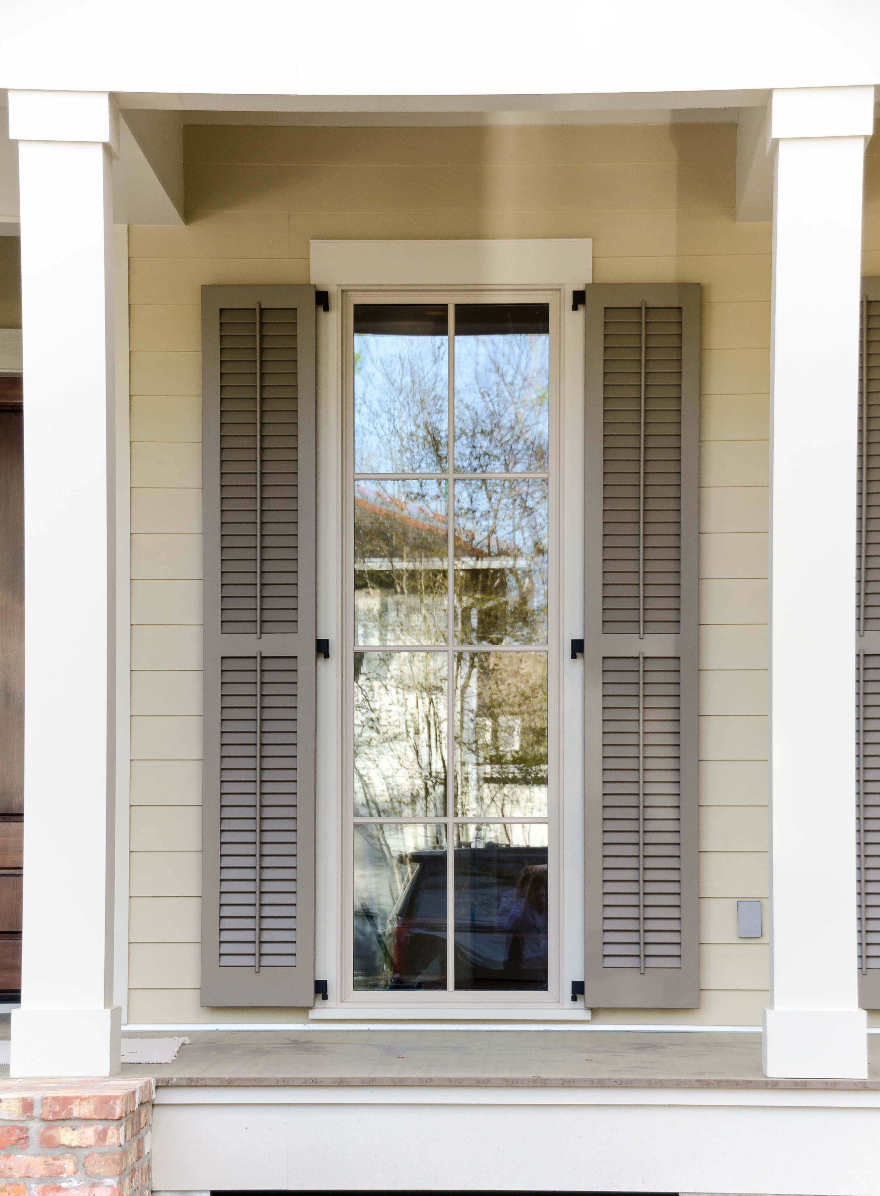 Shutters Vinyl Redwood Spanish Cedar Jefferson Door