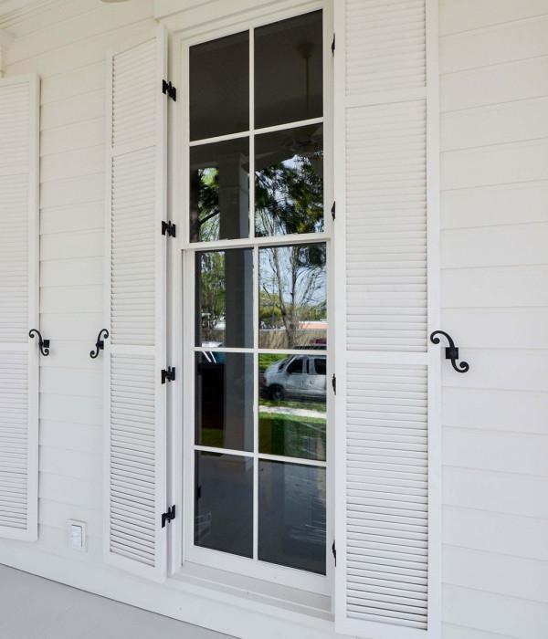 Shutters. Jefferson Door ... & Shutters - Vinyl Redwood Spanish Cedar Jefferson Door
